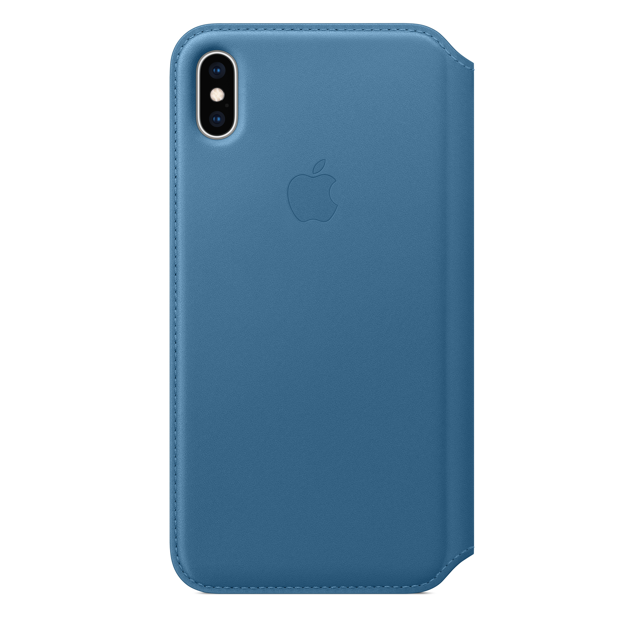 outlet store 5135a 626b7 iPhone XS Max Leather Folio - Cape Cod Blue