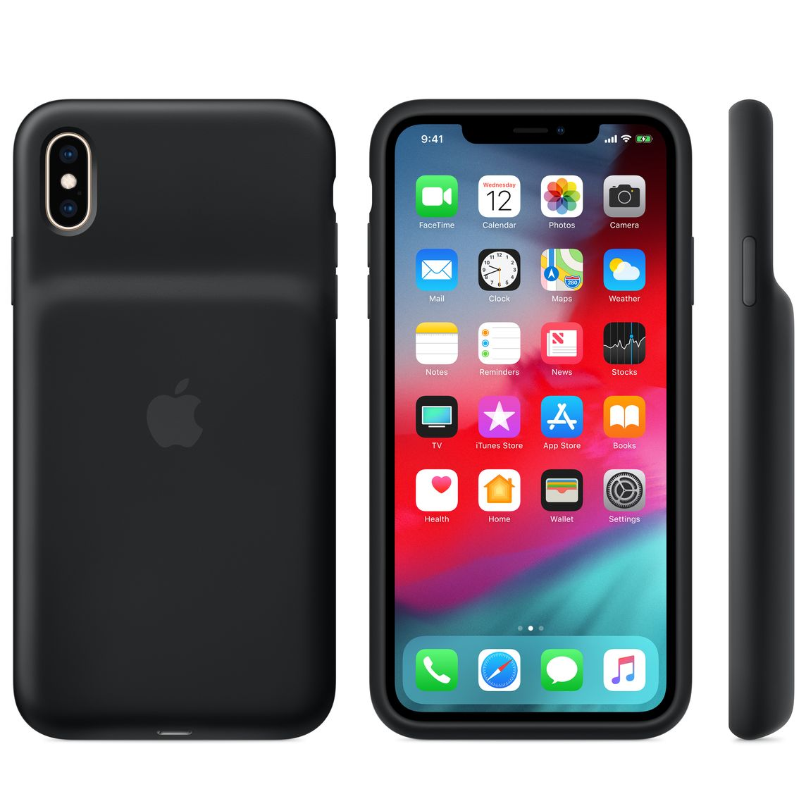 timeless design b9feb cfd3b iPhone XS Max Smart Battery Case - Black