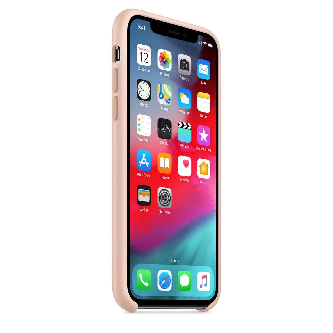 coque apple iphone x rose des sables