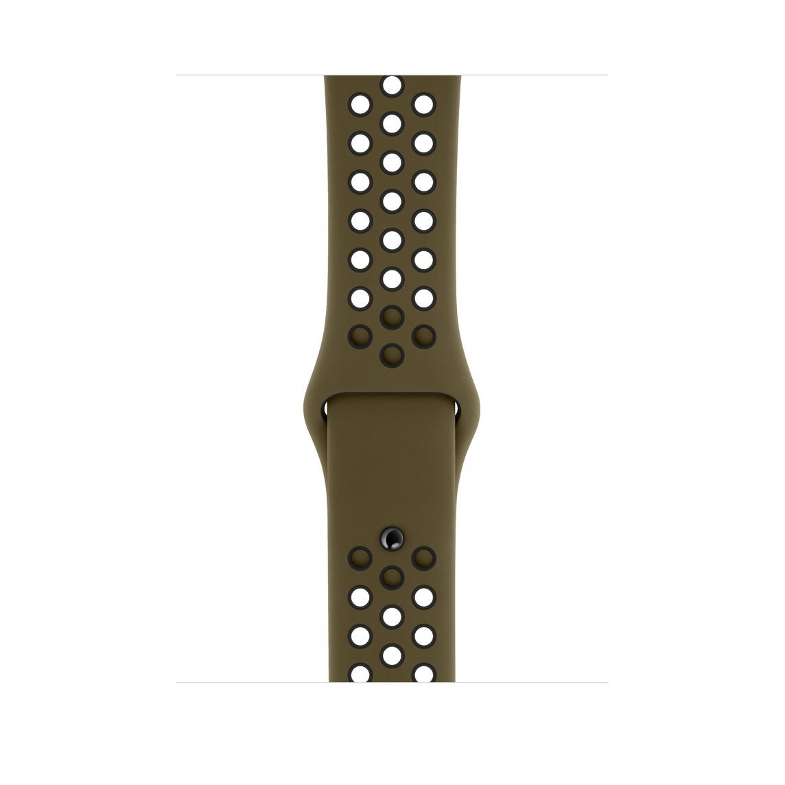 best service 8e70c 04f8c 44mm Olive Flak/Black Nike Sport Band – S/M & M/L