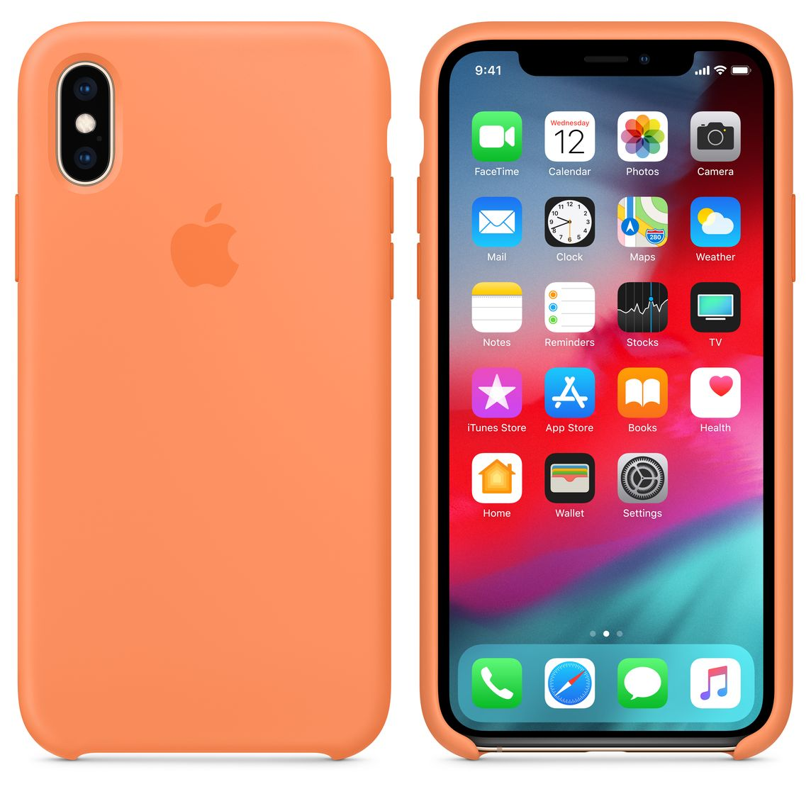coque apple iphone xs papaye
