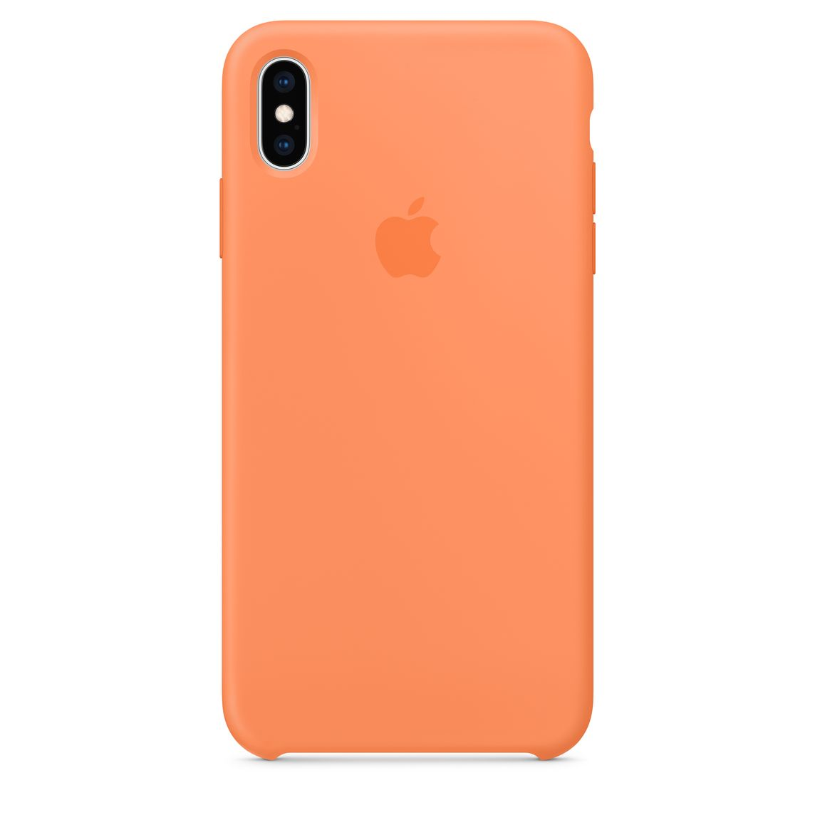 Custodia in silicone per iPhone XS Max - Arancione papaya