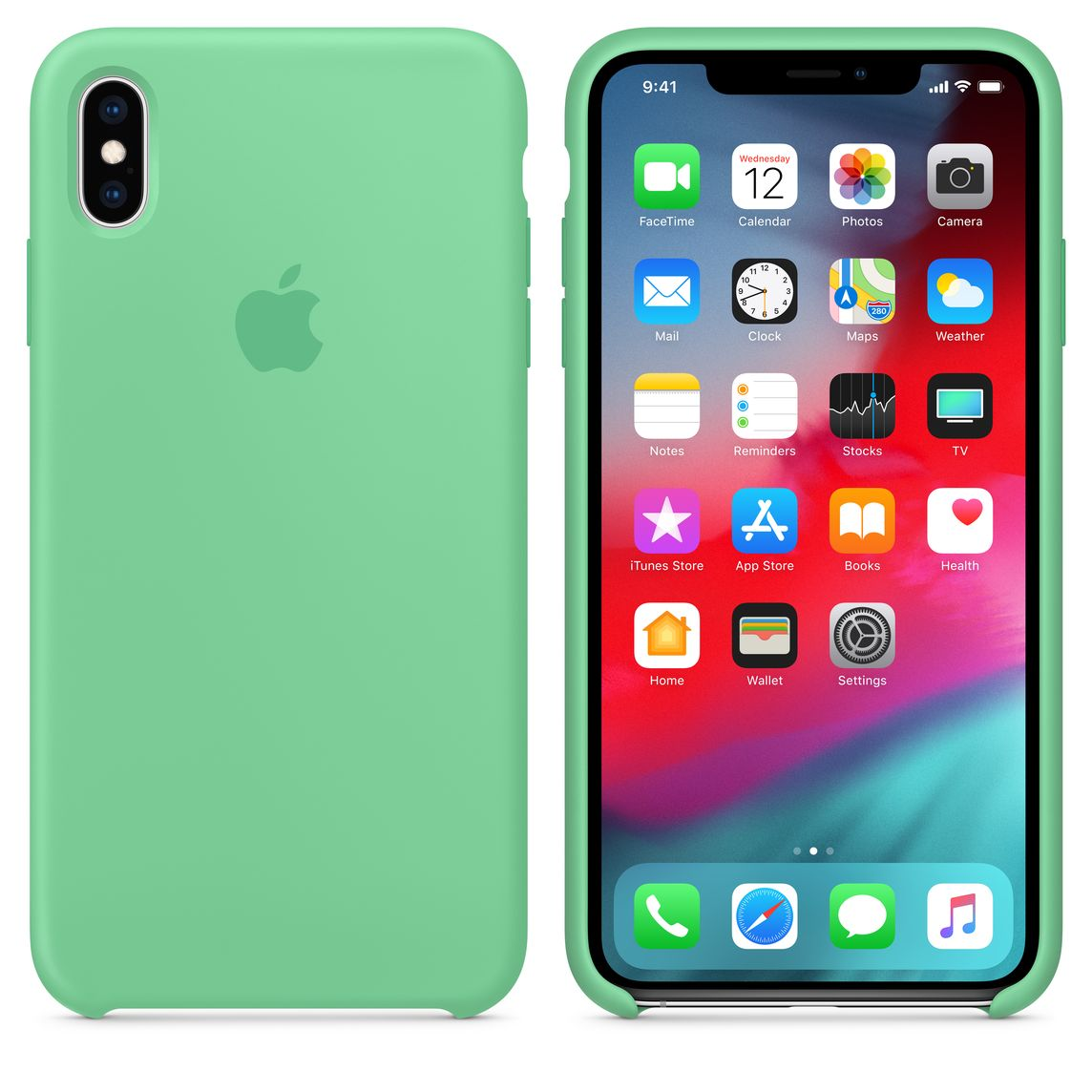 coque iphone xs max menthe