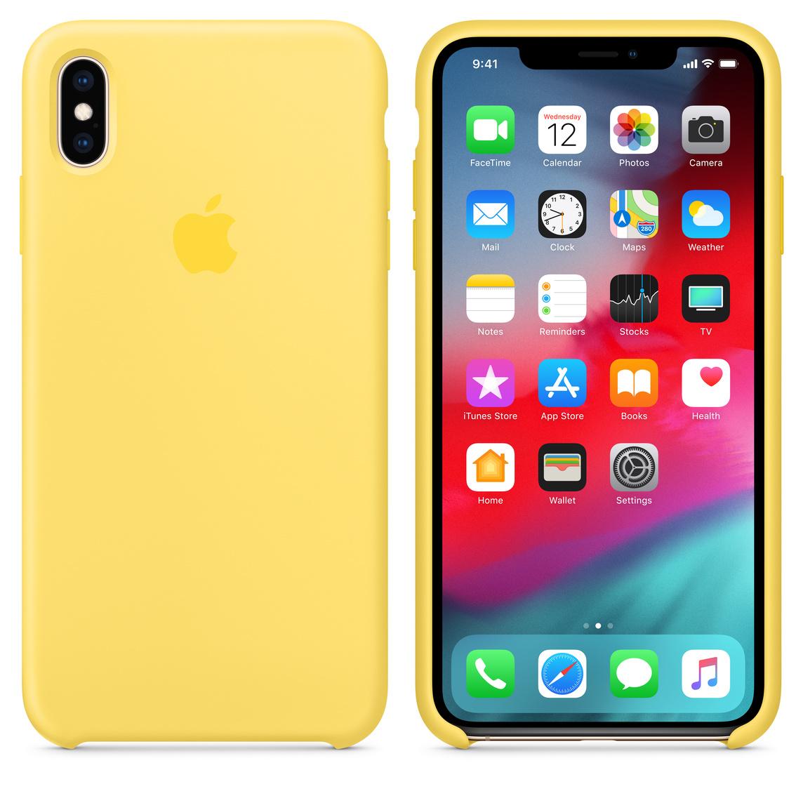 coque iphone xs max jaune canari
