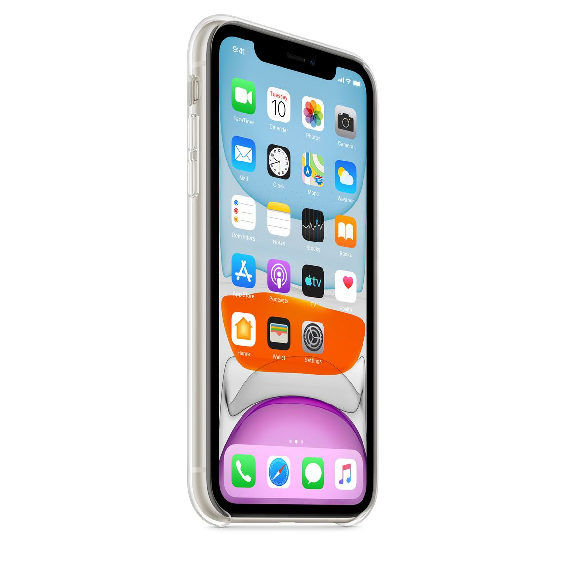 CUSTODIA per APPLE IPHONE 11 (6.1') IN TPU BIANCO TRASPARENTE