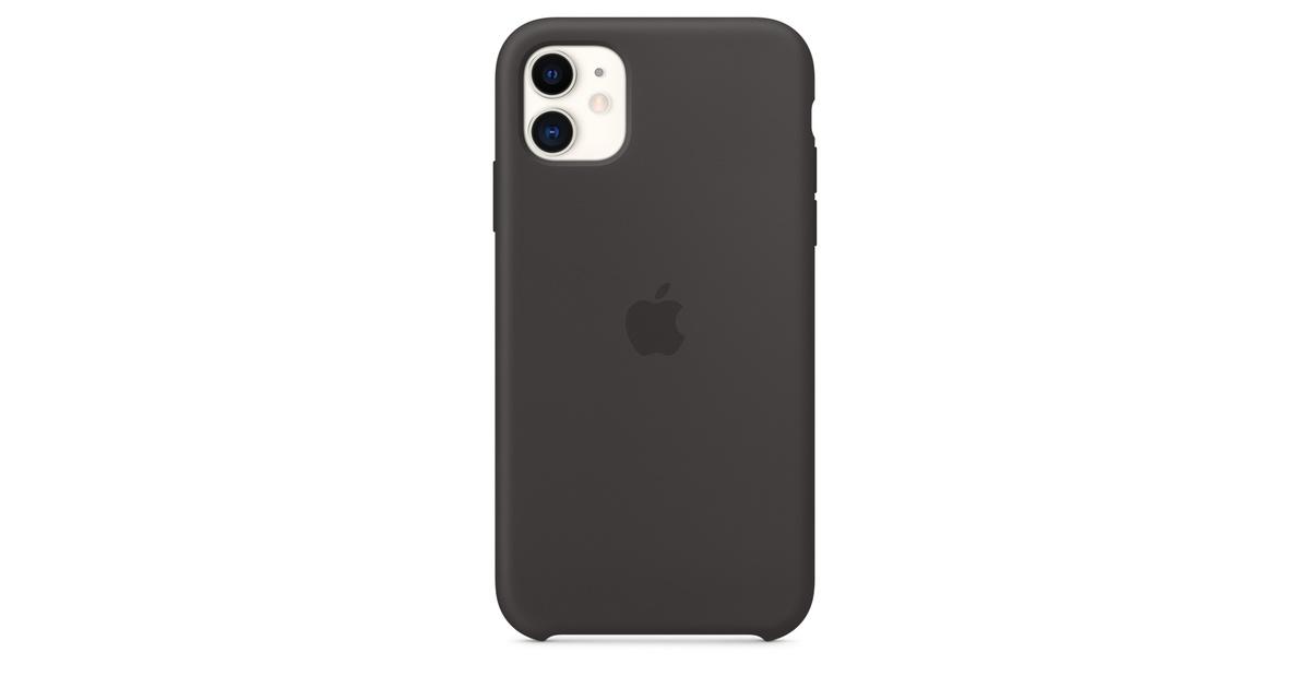 Coque en silicone pour iPhone 11 - Noir