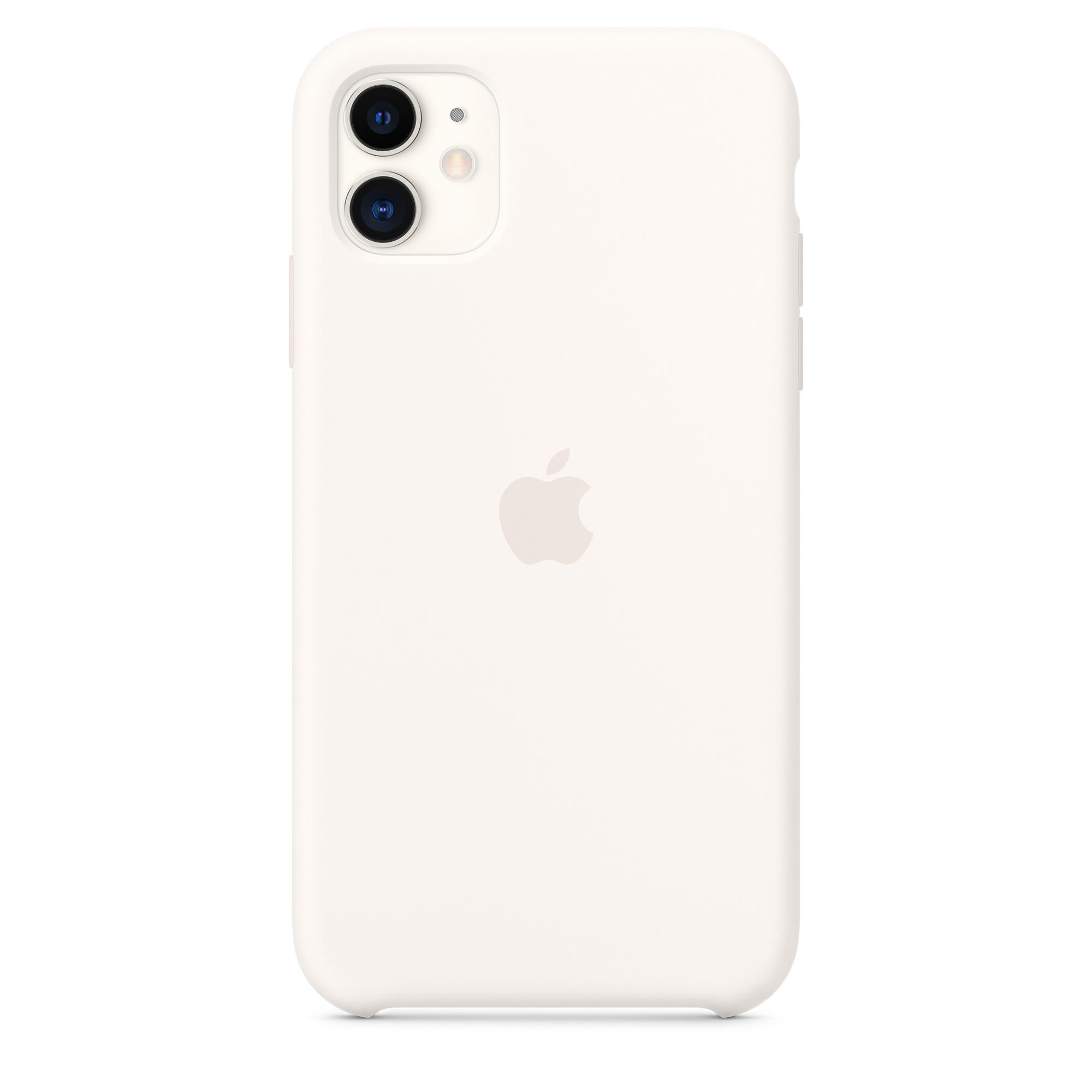 Capa Em Silicone Para Iphone 11 Branco Suave Apple Pt