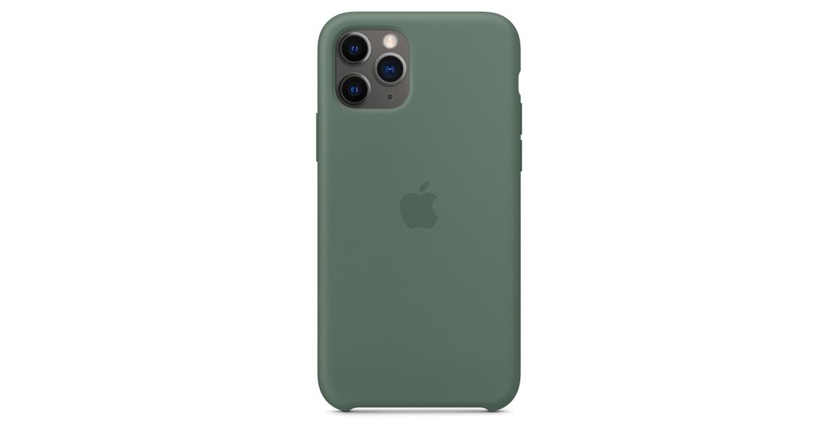 Custodia in silicone per iPhone 11 Pro - Verde pineta