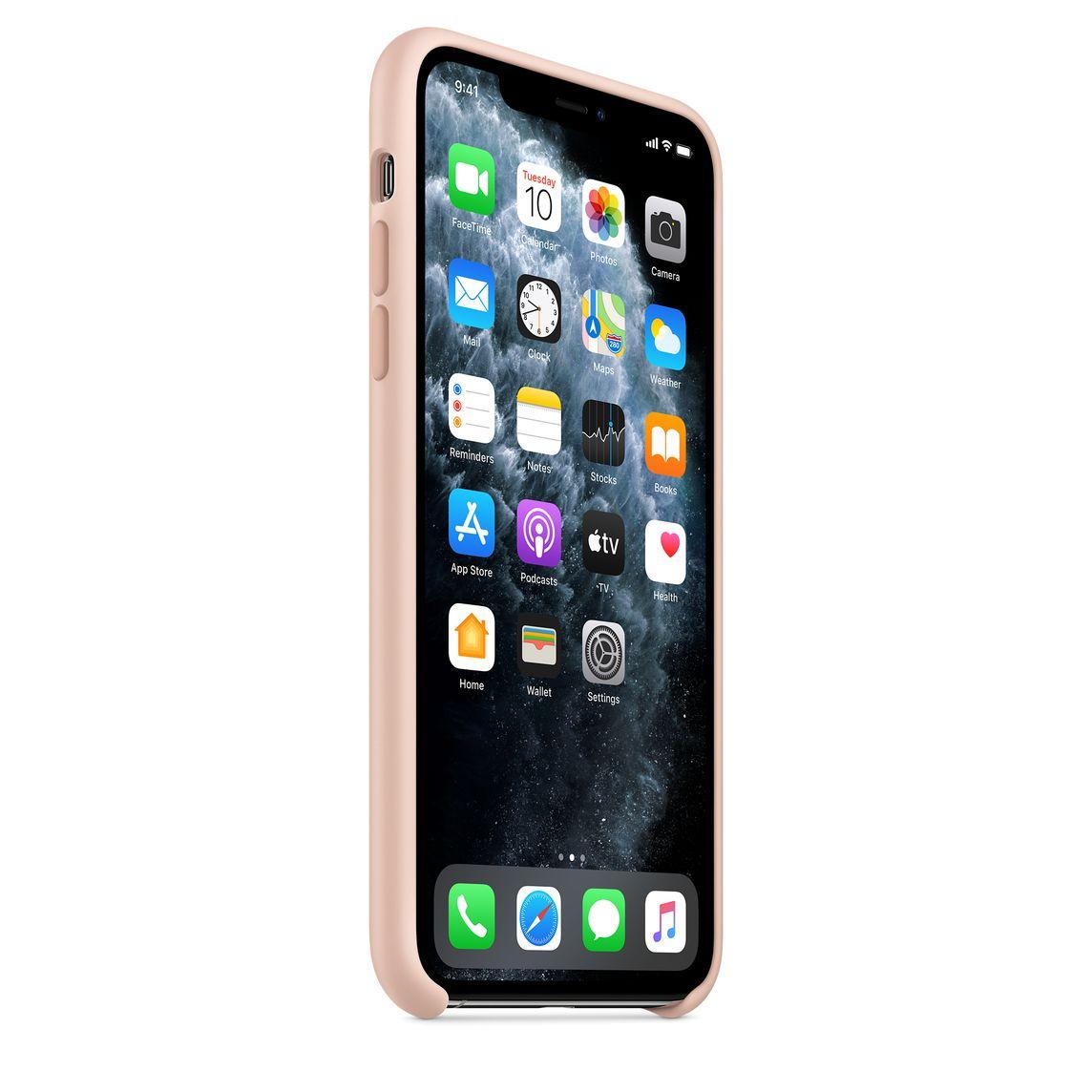 Coque en silicone pour iPhone 11 Pro Max - Rose des sables