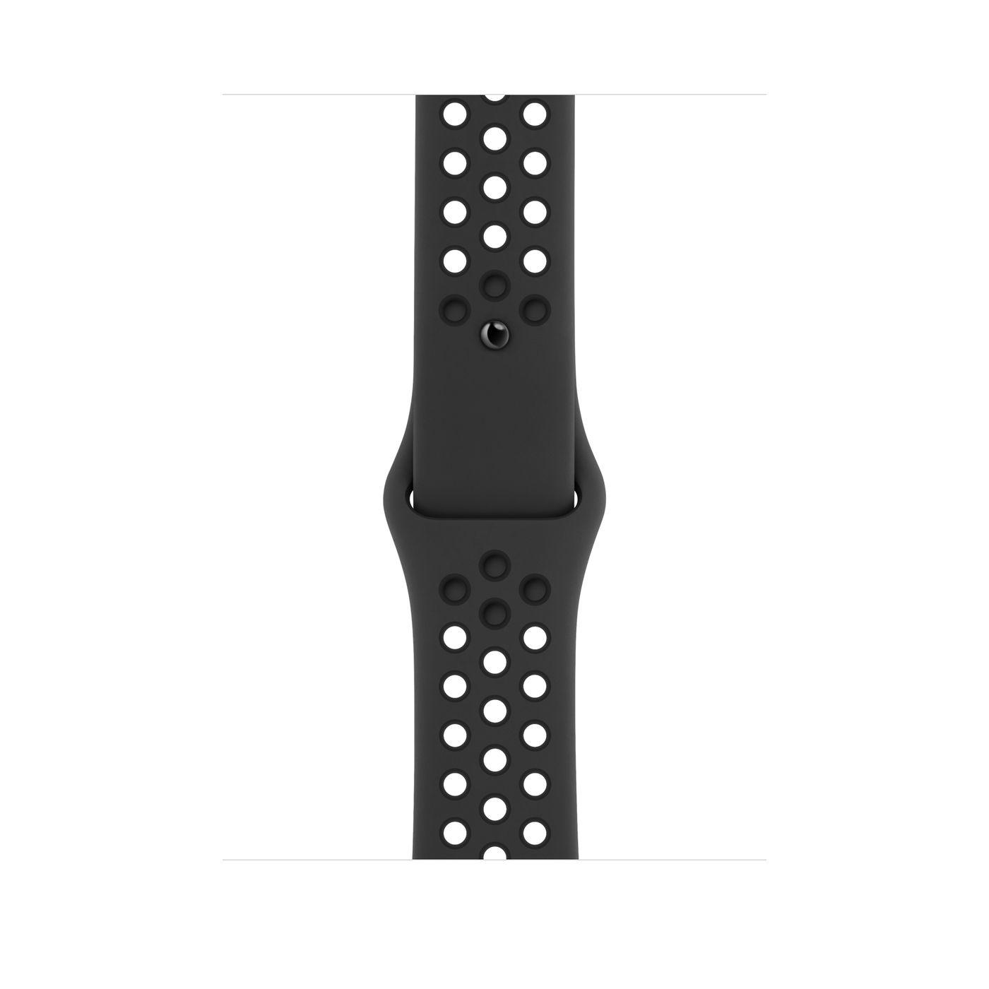 Apple Watch Nike Series 5 GPS, Cassa 44 mm in alluminio grigio siderale con Cinturino Nike Sport antracitenero