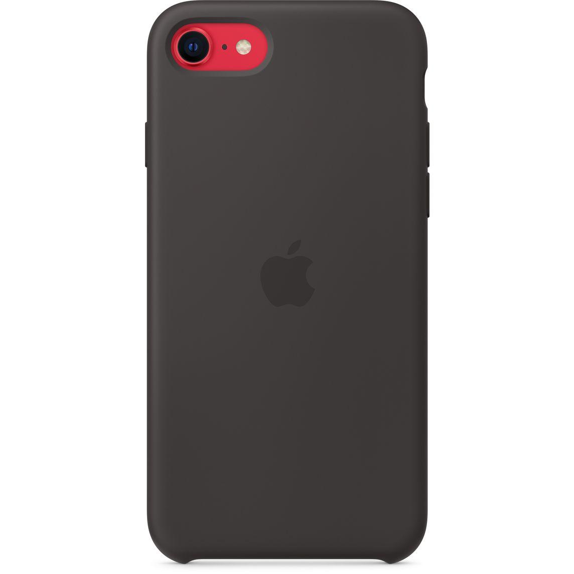 Custodia in silicone per iPhone SE - Nero