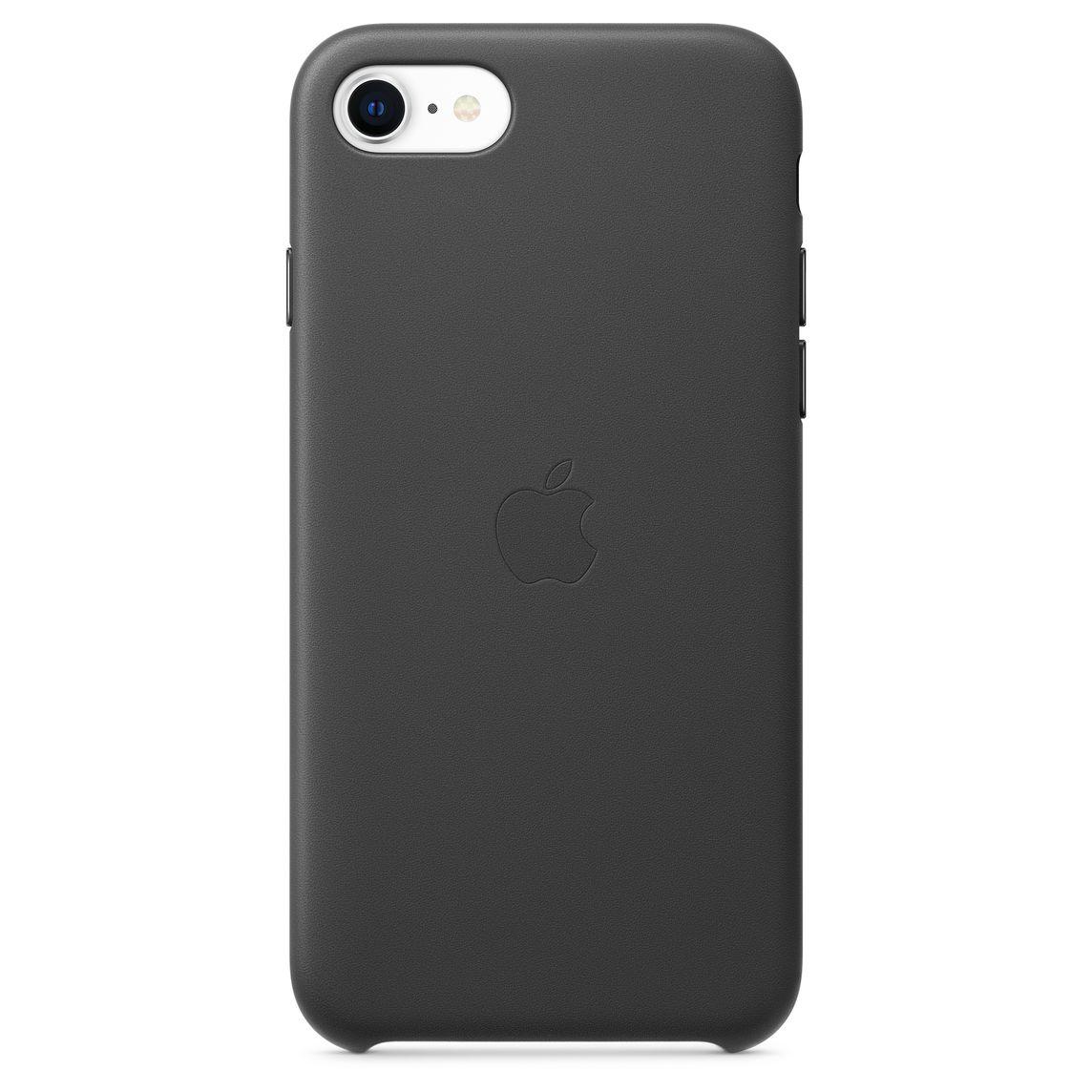 Custodia in pelle per iPhone SE - Nero