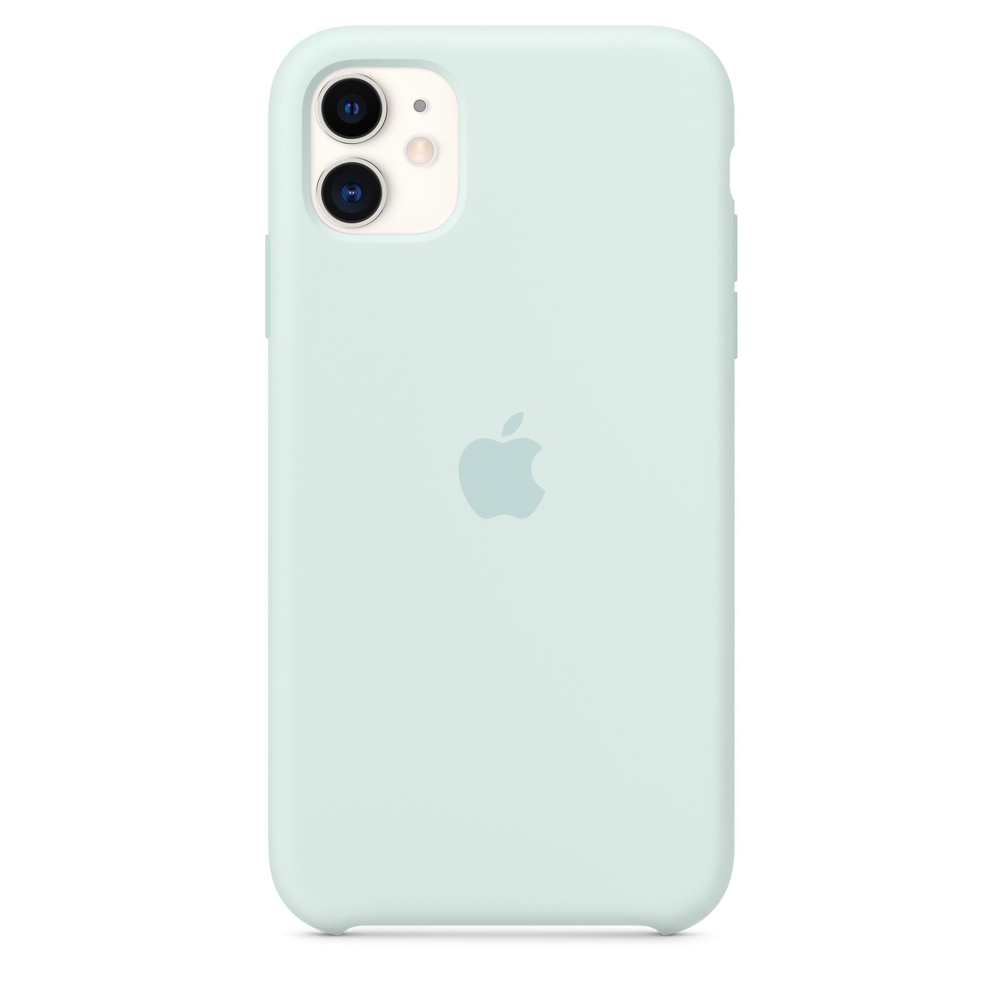 Custodia in silicone per iPhone 11 - Schiuma marina