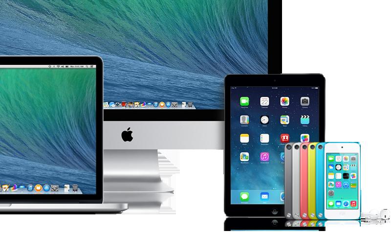 iMac, iPod Touch, Macbook Pro'