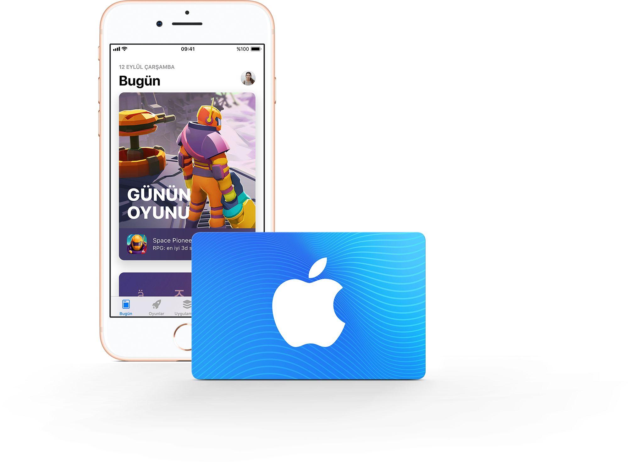 App Store ve iTunes Hediye Kartı