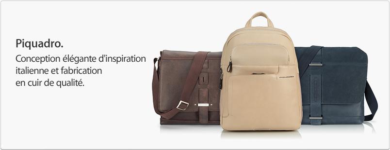 Piquadro. Conception élégante d'inspiration italienne et fabrication en cuir de qualité.
