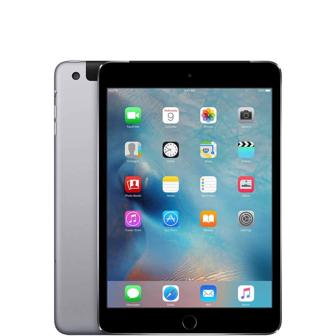 Kendte Refurbished iPad mini 4 Wi-Fi + Cellular 64GB - Space Grey - Apple XU-01
