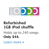 Pre-owned iPod shuffle, 1GB