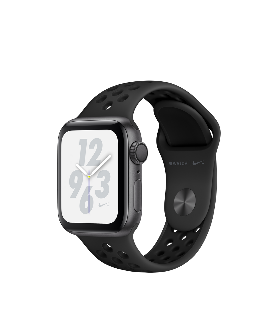 sale retailer 95daa 8b04b Apple Watch Nike+ Series 4 GPS, 40mm Space Gray Aluminum Case with  Anthracite/Black Nike Sport Band