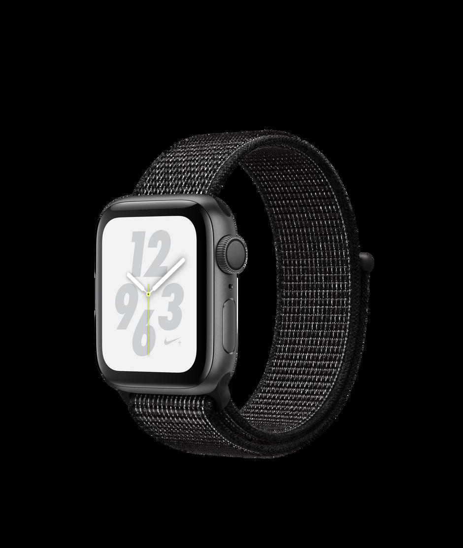 Apple watch nike series 4 gps 40mm space gray aluminum case with black nike sport loop