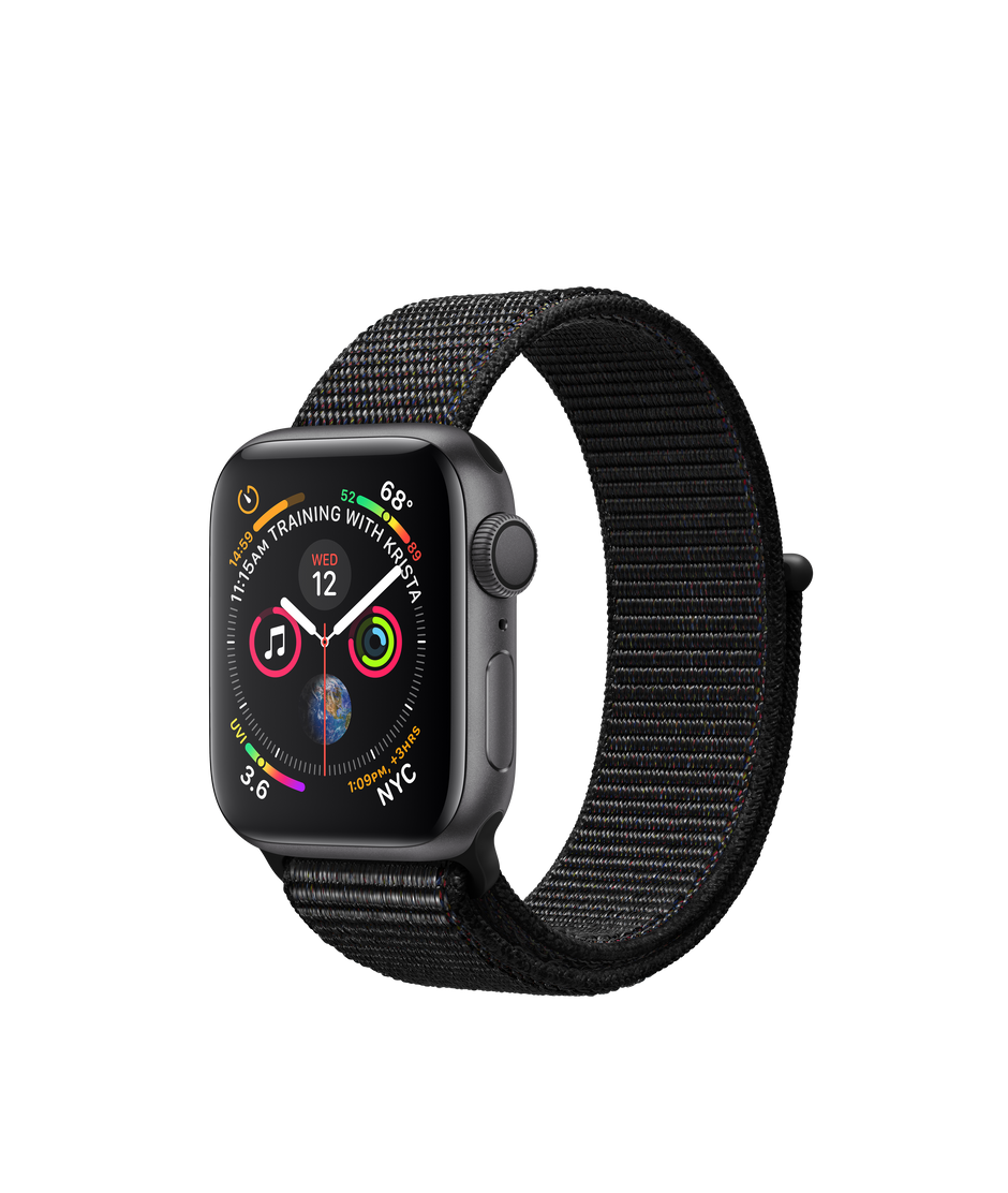 best website 0dee8 e5f72 Apple Watch Series 4 GPS, 40mm Space Gray Aluminum Case with Black Sport  Loop