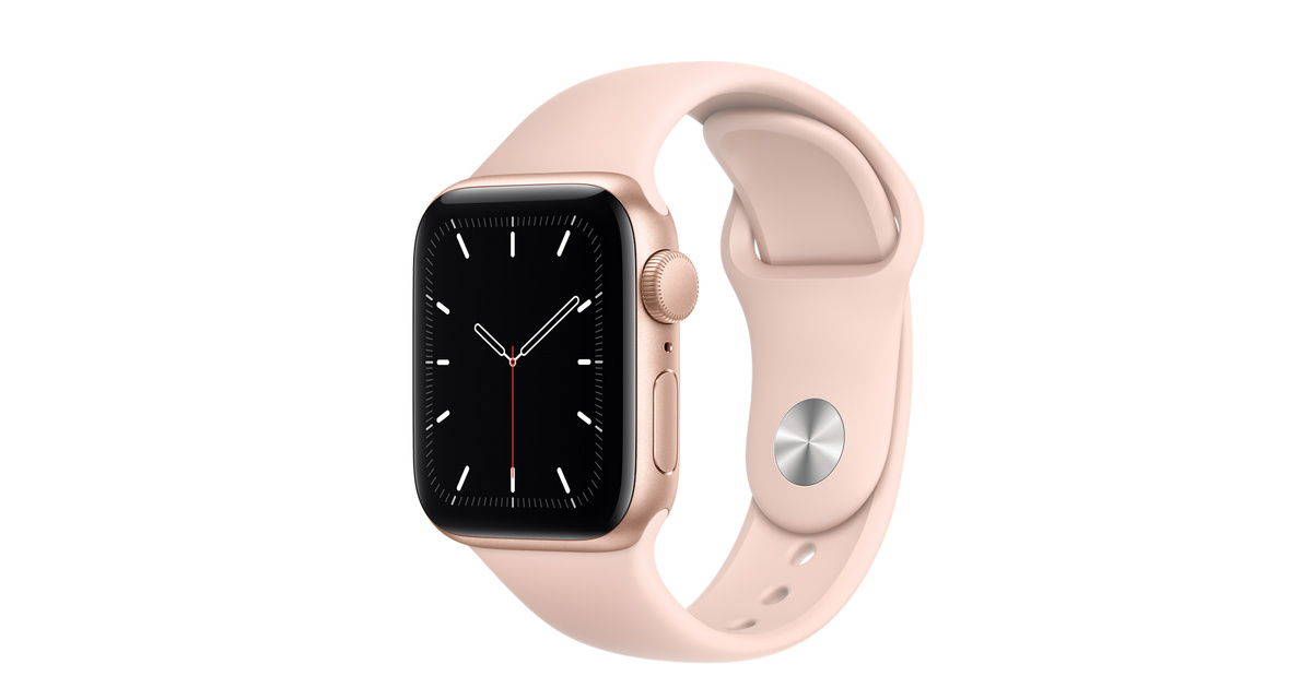 Apple Watch Gold Aluminium Case with Sport Band