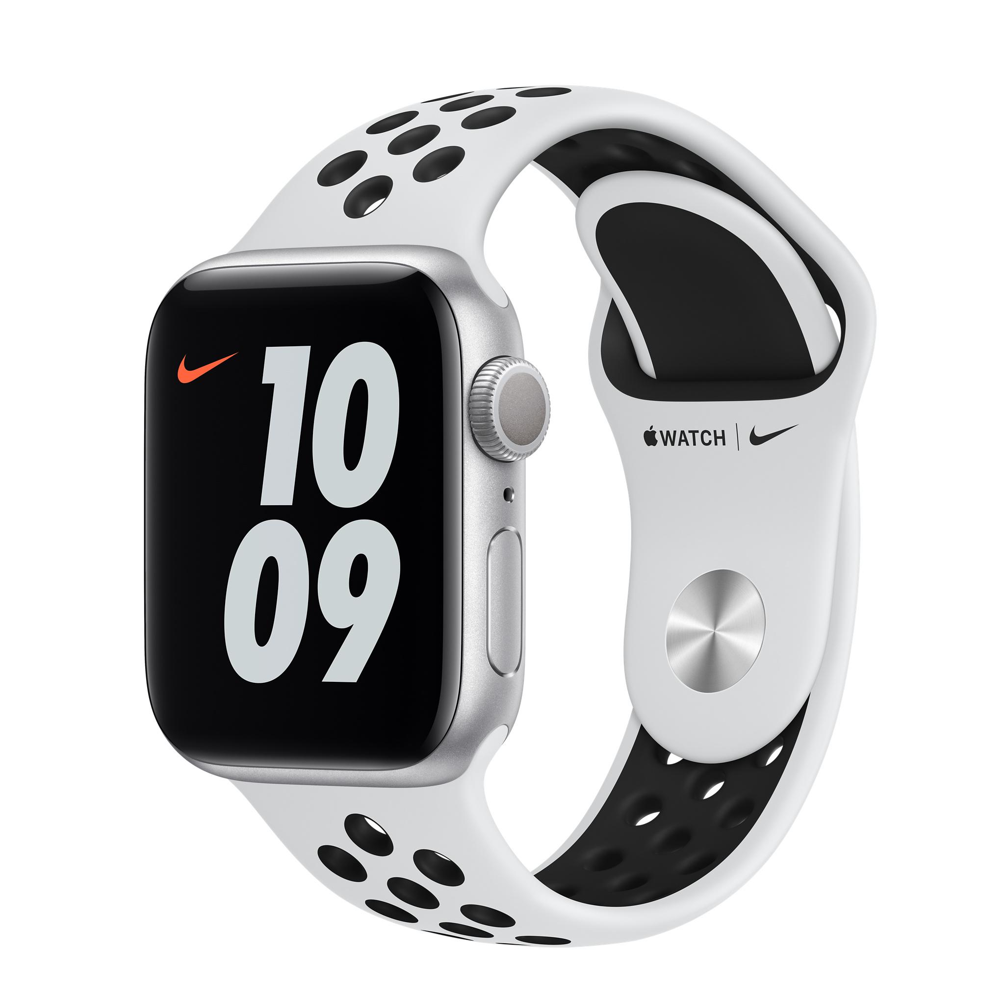 AppleWatch Nike Series6 GPS• Caixa prateada de alumínio– 40mm• Pulseira esportiva Nike platina/preta– Padrão