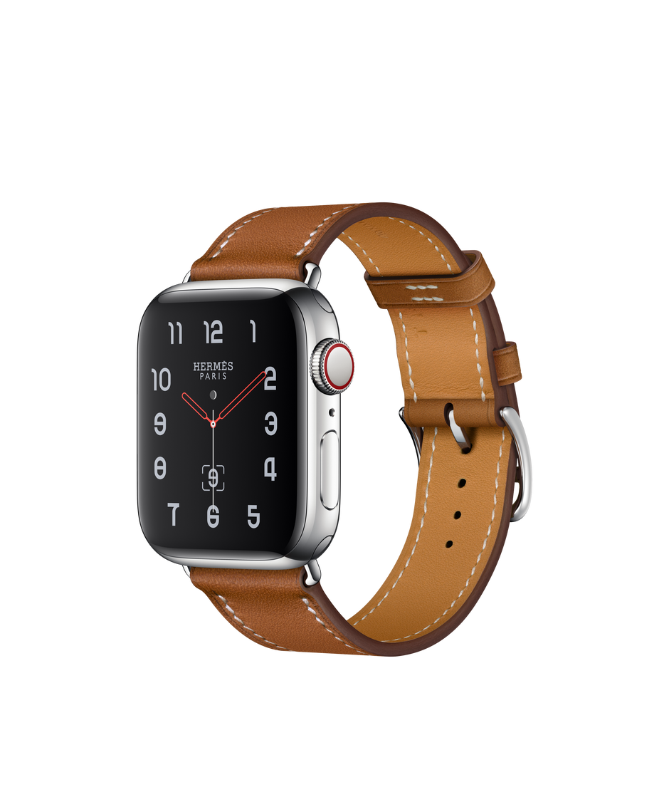 c4ce6c461 Apple Watch Hermès Stainless Steel Case with Fauve Barenia Leather Single  Tour