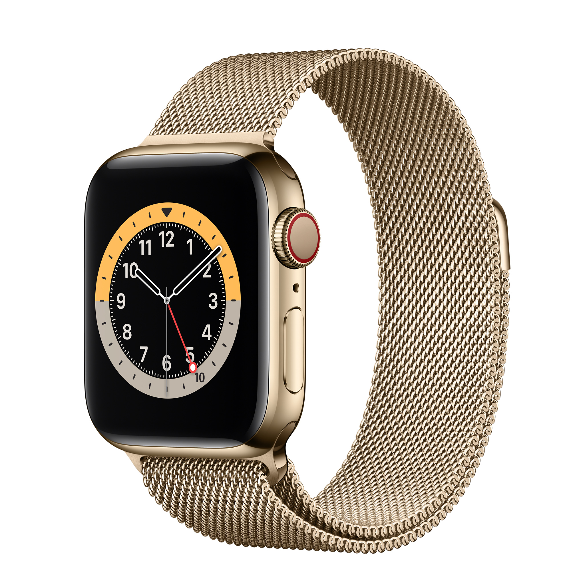 Apple Watch Series 6 Gps Cellular 40mm Gold Stainless Steel Case With Gold Milanese Loop Apple