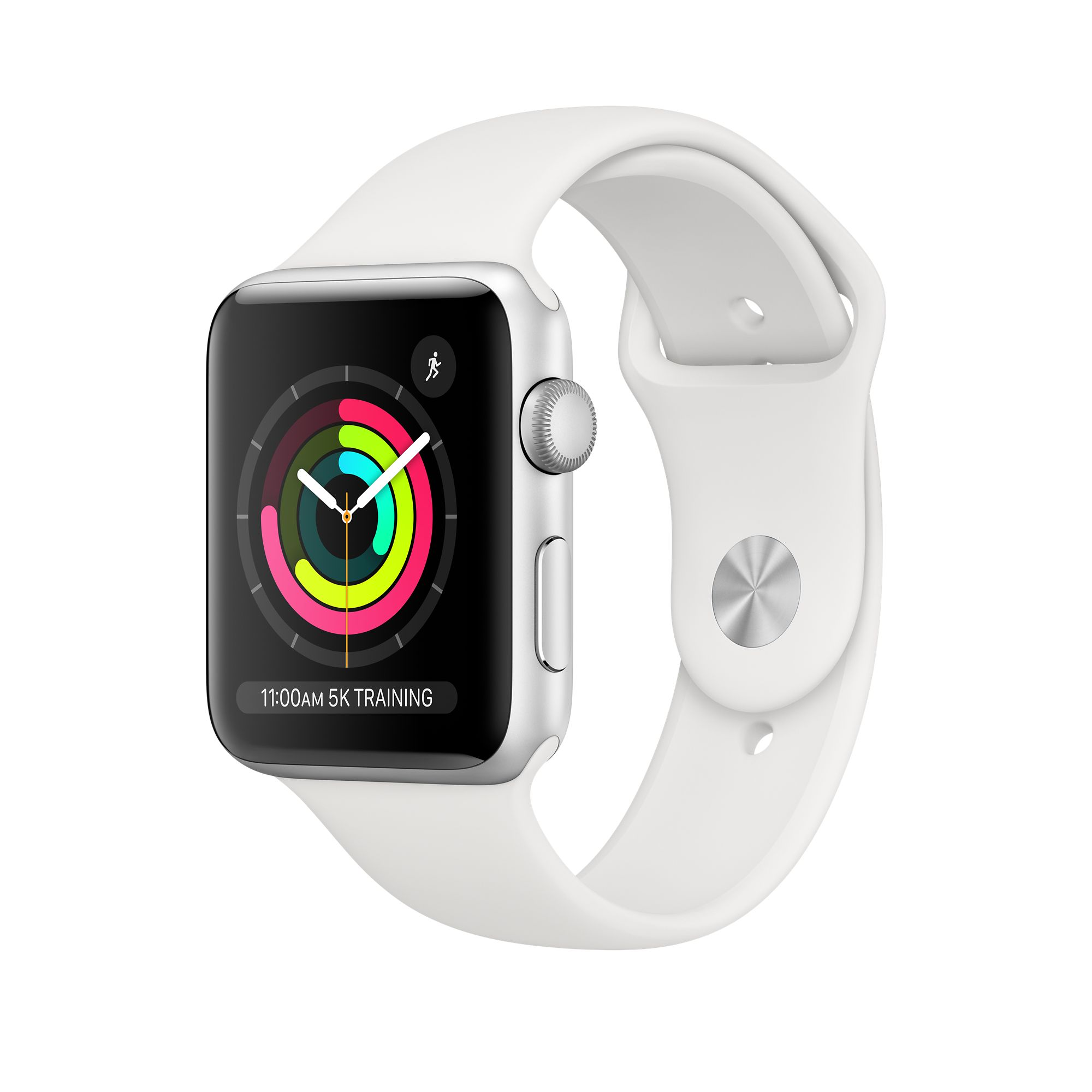 cheap for discount 43d15 1a9e0 Apple Watch Series 3 GPS, 38mm Silver Aluminum Case with White Sport Band
