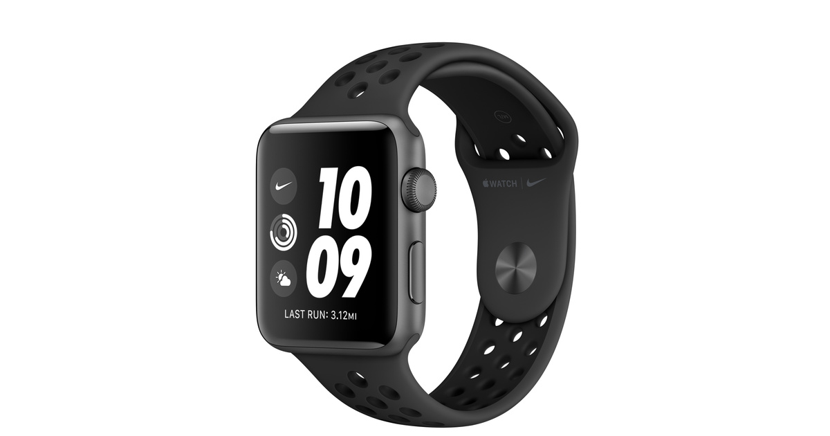recluta apelación autoridad  Apple Watch Nike Series 3 GPS, 42mm Space Grey Aluminium Case with  Anthracite/Black Nike Sport Band - Apple (CA)