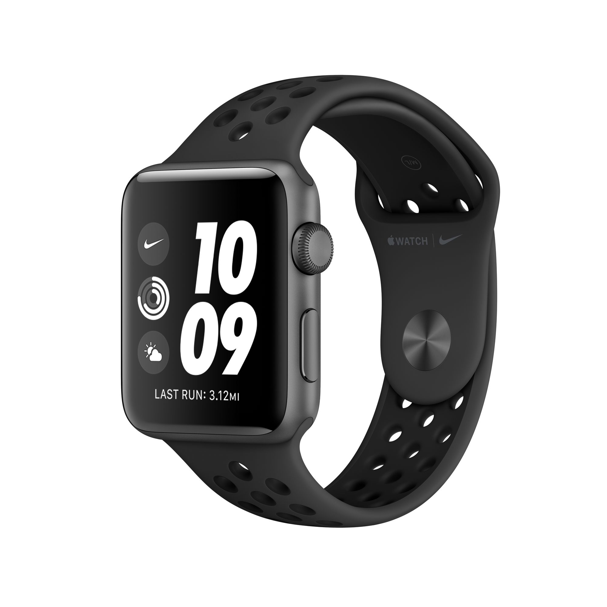 promo code 5e47b b7ec8 Apple Watch Nike+ Series 3 GPS, 38mm Space Gray Aluminum Case with  Anthracite/Black Nike Sport Band