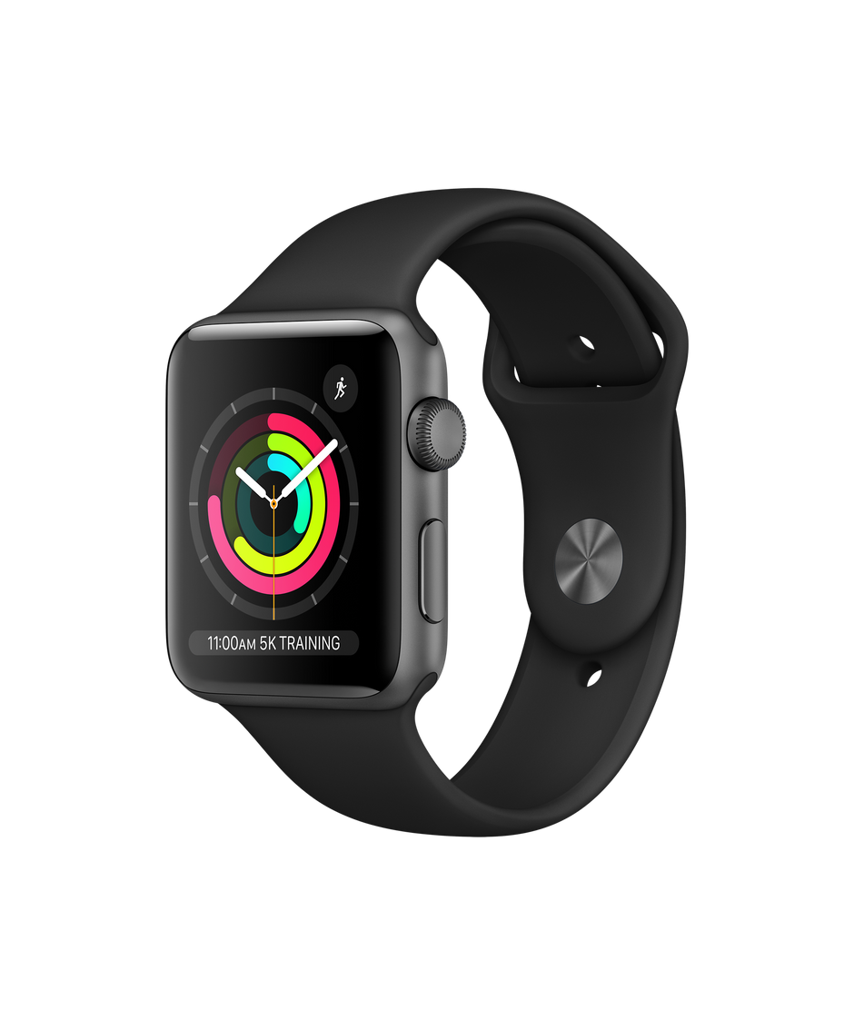 sneakers for cheap 0098c 110d8 Apple Watch Series 3 GPS, 42mm Space Gray Aluminum Case with Black Sport  Band
