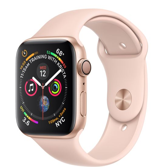 dd29fc5c7 Gold Aluminum Case with Pink Sand Sport Band