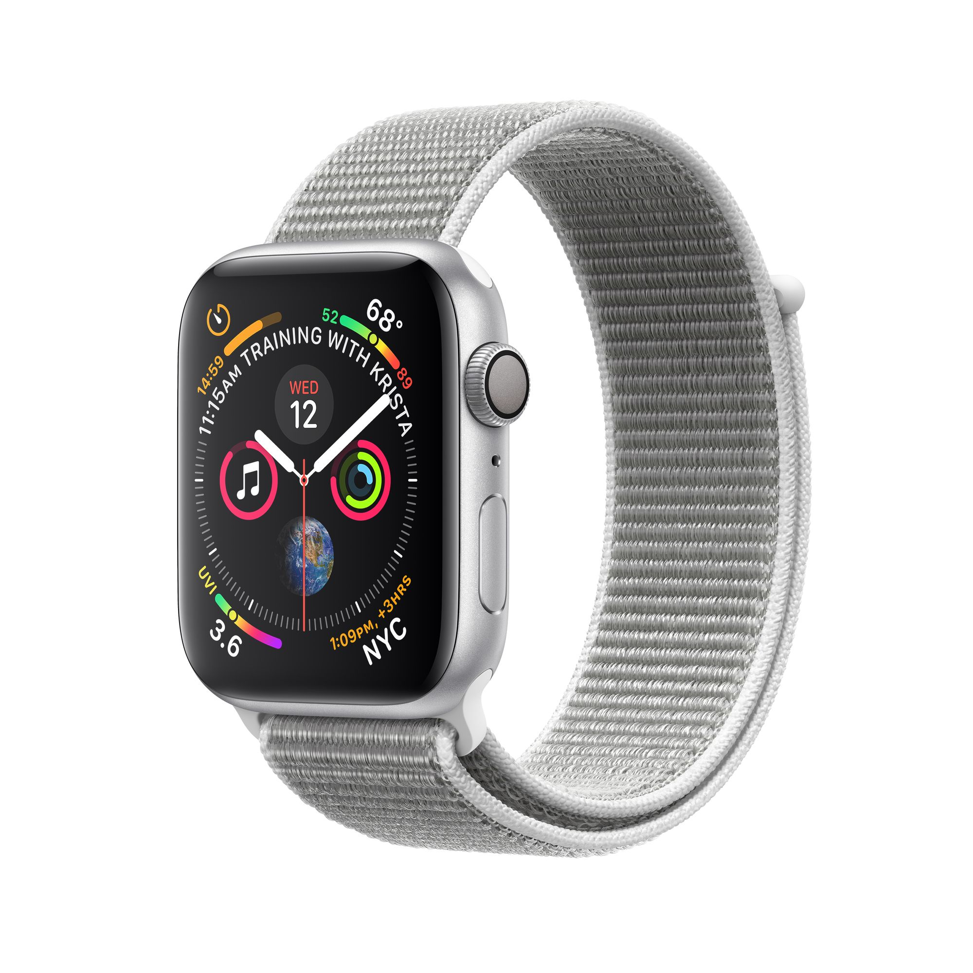 finest selection 8903d de20f Apple Watch Series 4 GPS, 40mm Silver Aluminum Case with Seashell Sport Loop