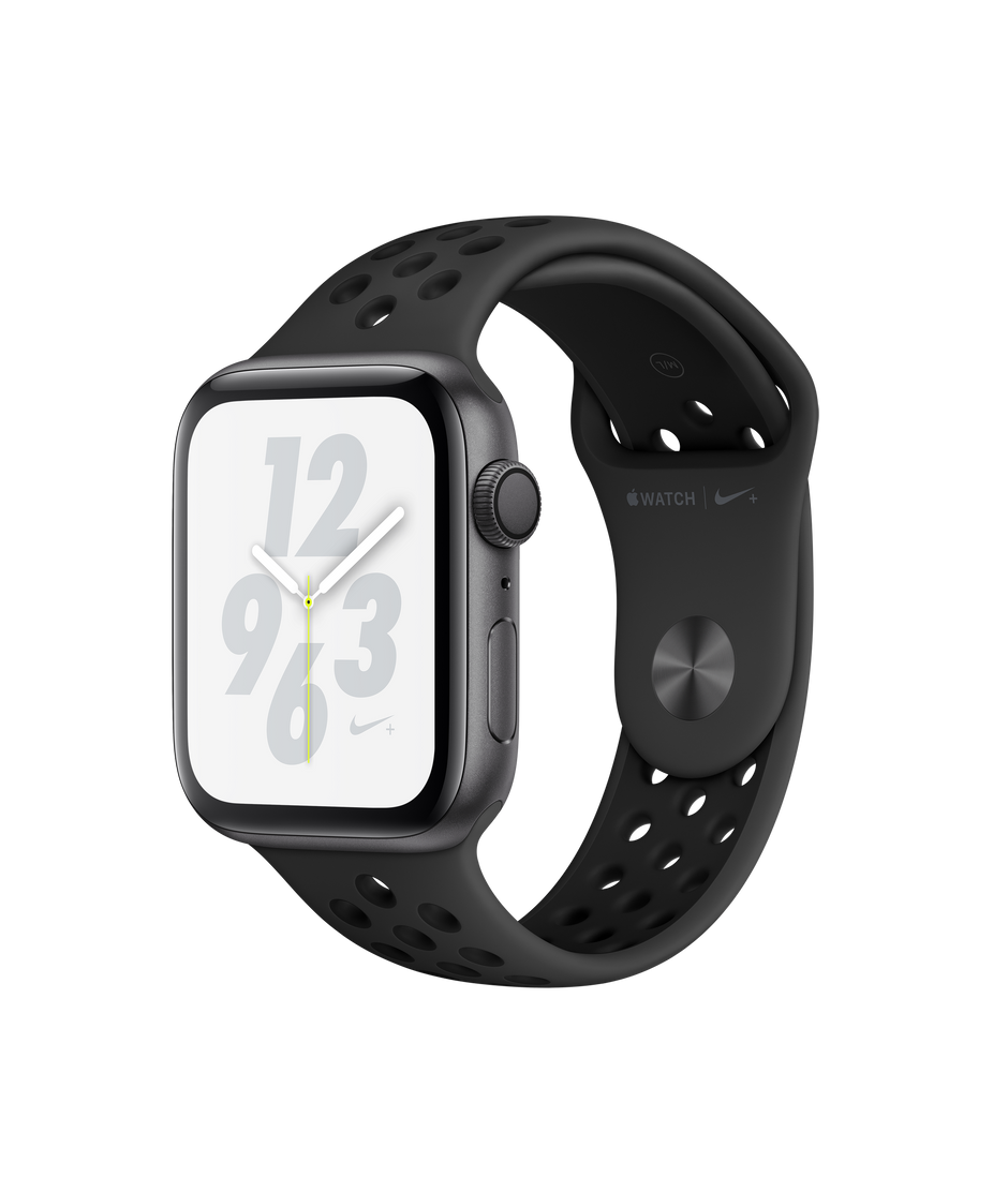 hot sale online f31d1 0b933 Apple Watch Nike+ Series 4 GPS, 44mm Space Gray Aluminum Case with  Anthracite/Black Nike Sport Band