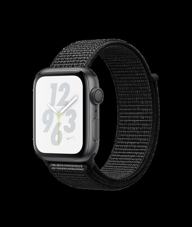 Apple Watch Nike+ Series 4 GPS, 44mm Space Gray Aluminum Case with Black  Nike Sport Loop