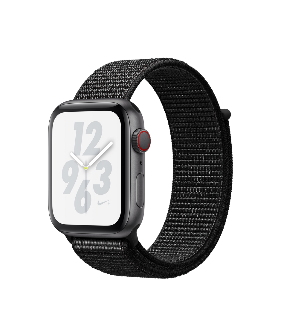 promo code 8c3e0 c2183 Apple Watch Nike+ Series 4 GPS + Cellular, 44mm Space Gray Aluminum Case  with Black Nike Sport Loop