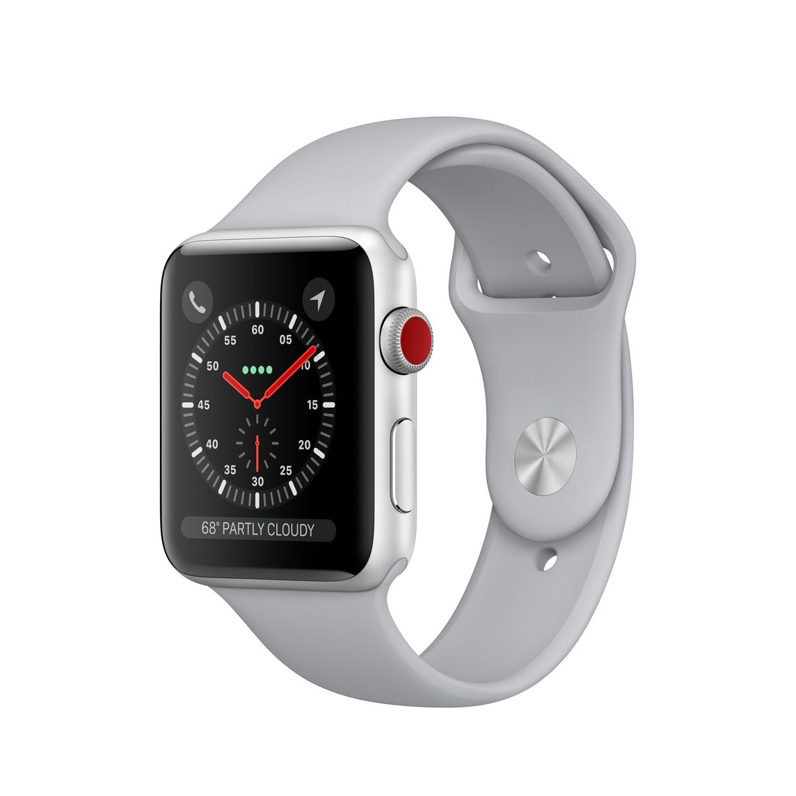 best cheap 4bb4d 12c05 Refurbished Apple Watch Series 3 GPS + Cellular, 42mm Silver Aluminum Case  with Fog Sport Band