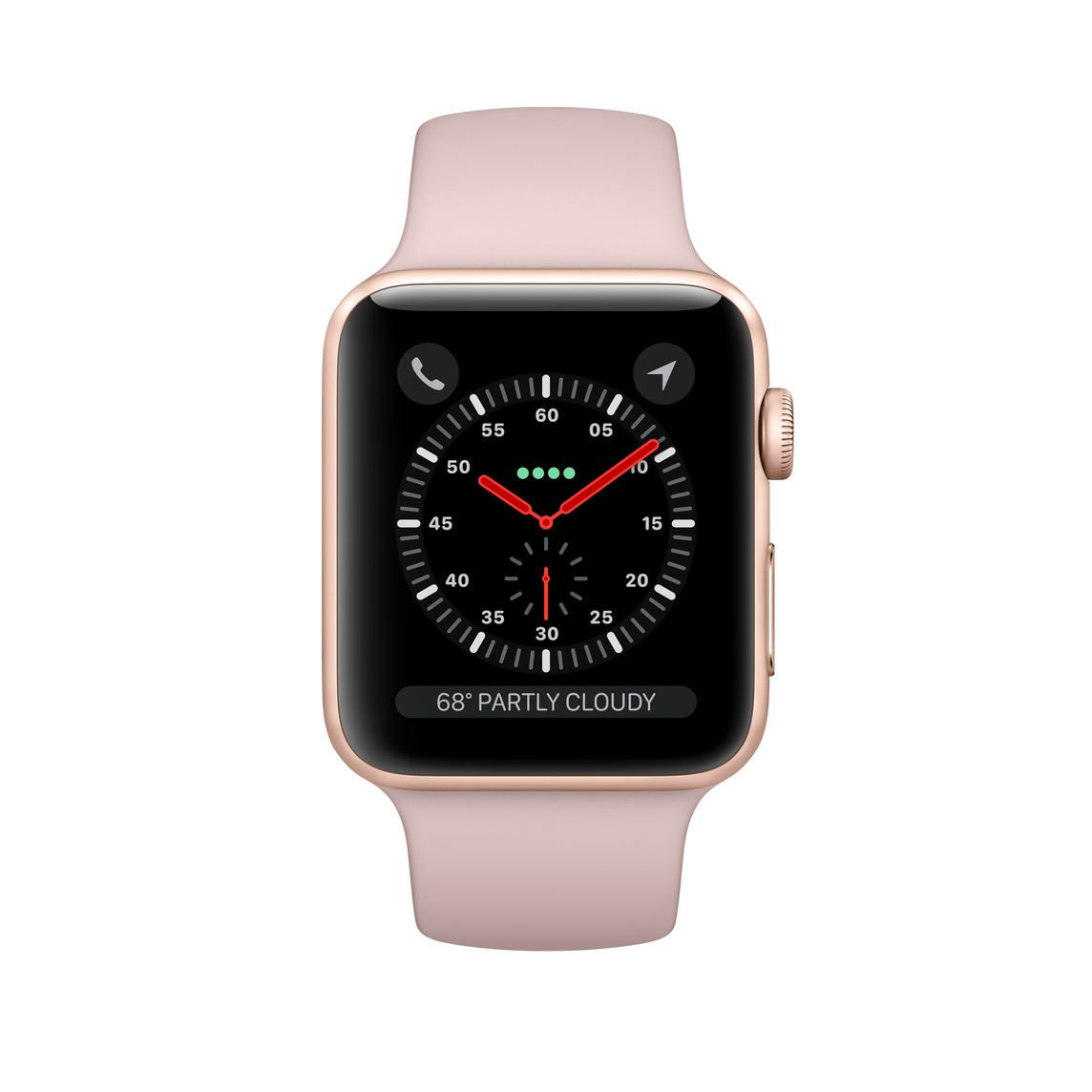 best service beca4 e08e0 Refurbished Apple Watch Series 3 GPS + Cellular, 42mm Gold Aluminum Case  with Pink Sand Sport Band