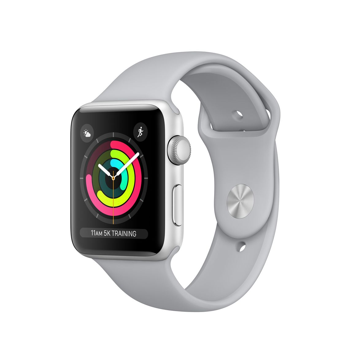 separation shoes b6cd5 19c38 Refurbished Apple Watch Series 3 GPS, 42mm Silver Aluminum Case with Fog  Sport Band