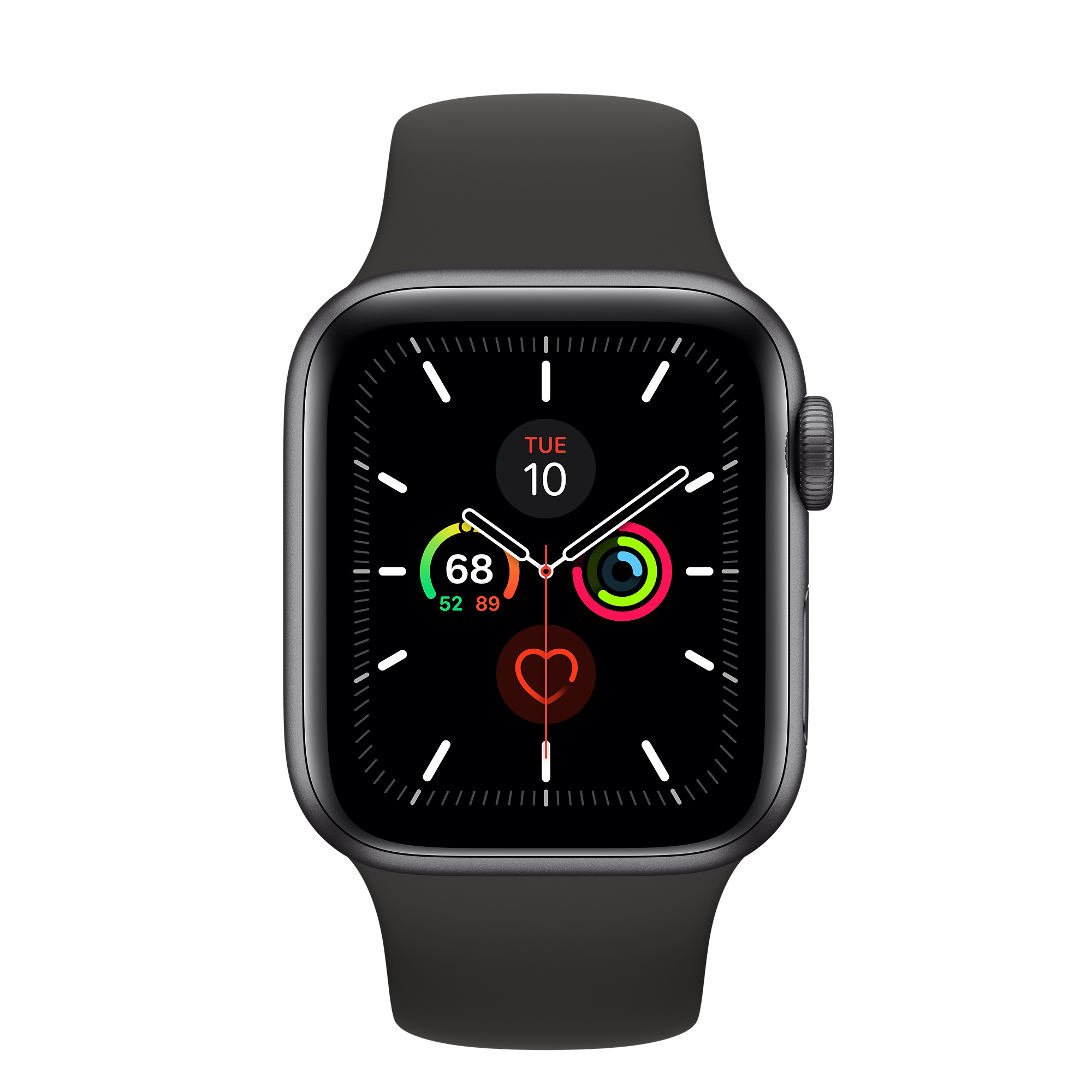 Refurbished Apple Watch Series 5 GPS, 40mm Space Gray Aluminum