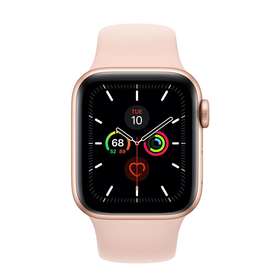 Refurbished Apple Watch Series 5 Gps Cellular 40mm Gold Aluminum Case With Pink Sand Sport Band Apple