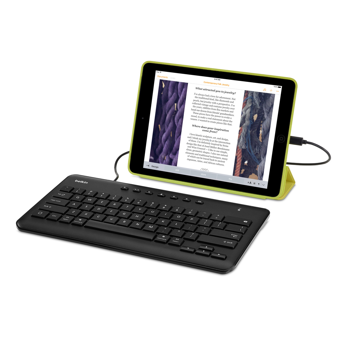 Belkin Secure Wired Keyboard for iPad (Lightning Connector)