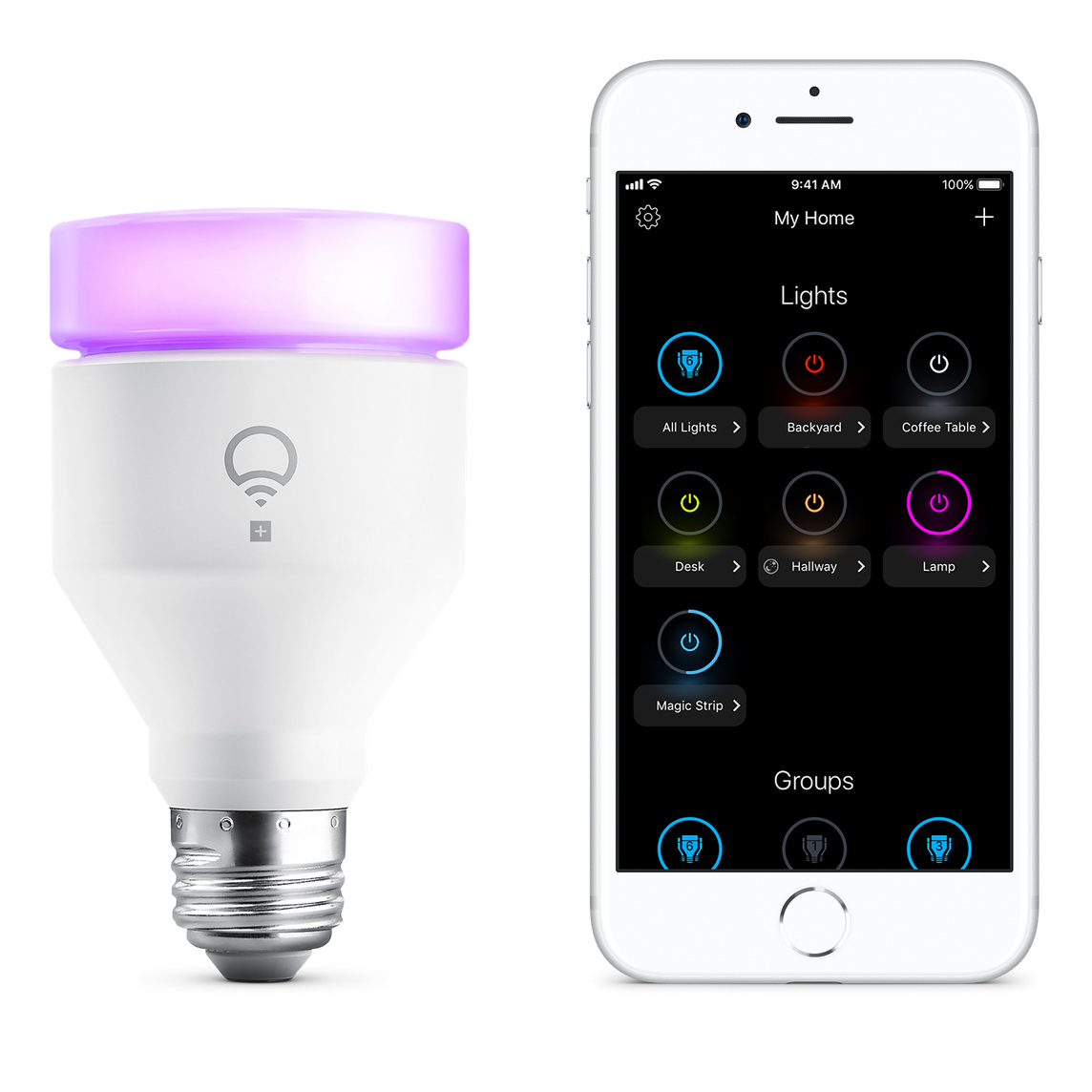 LIFX + Infrared Multicolor A19 E26 Dimmable Wi-Fi Smart LED Light Bulb