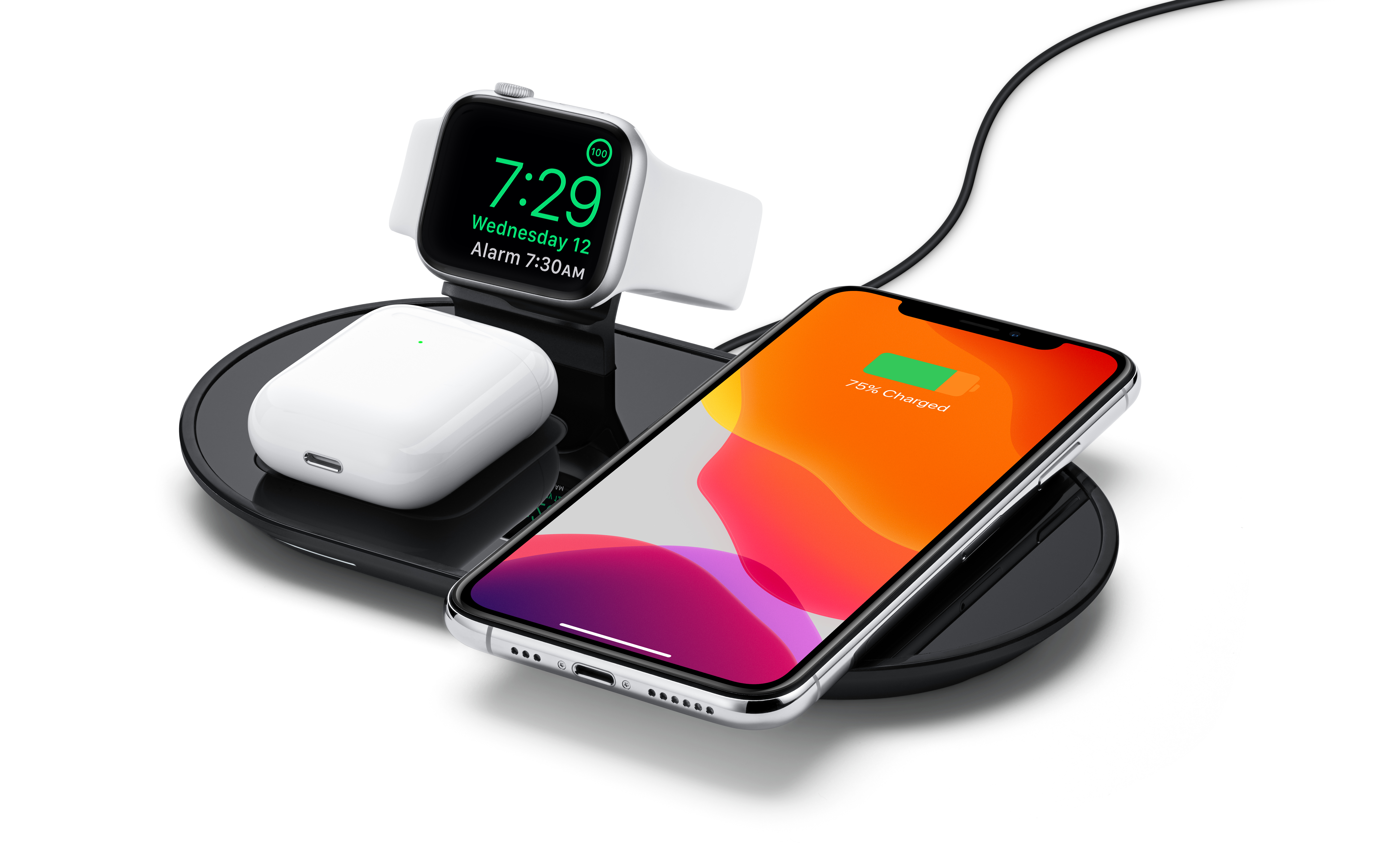 Mophie 3 In 1 Wireless Charging Pad Black Apple