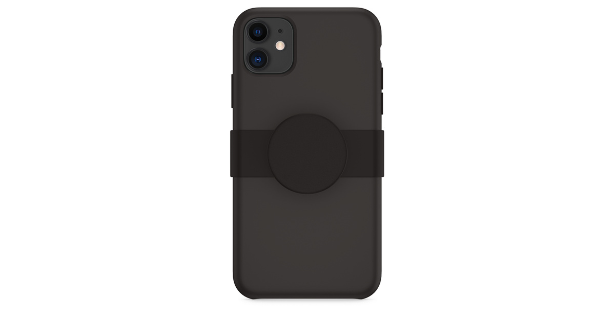 PopGrip Slide de PopSockets pour iPhone 11 - Noir