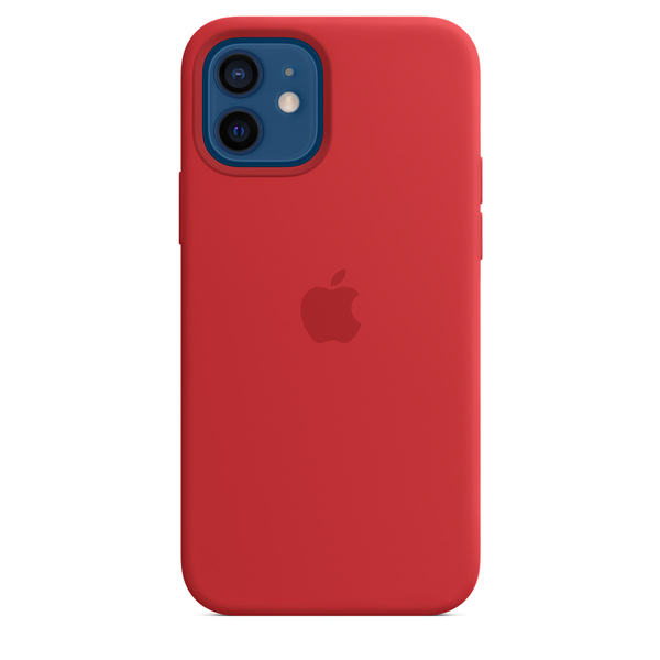 Capa de silicone com MagSafe para iPhone 12 | iPhone 12 Pro – (PRODUCT)RED™‎