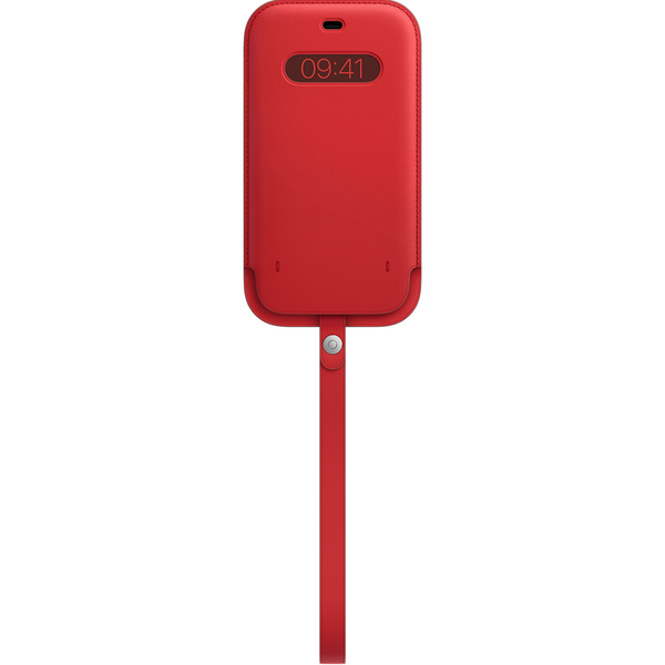 Estojo de couro com MagSafe para iPhone 12 Pro Max – (PRODUCT)RED™‎