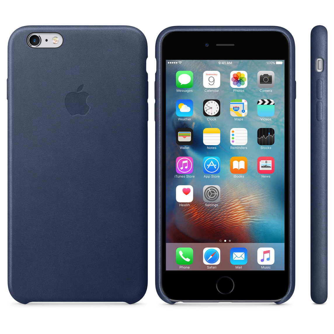 newest 0bc81 68586 iPhone 6 Plus / 6s Plus Leather Case - Midnight Blue